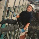 'Plucky' Patrick Elliot completes Europa Belfast abseil aged 75
